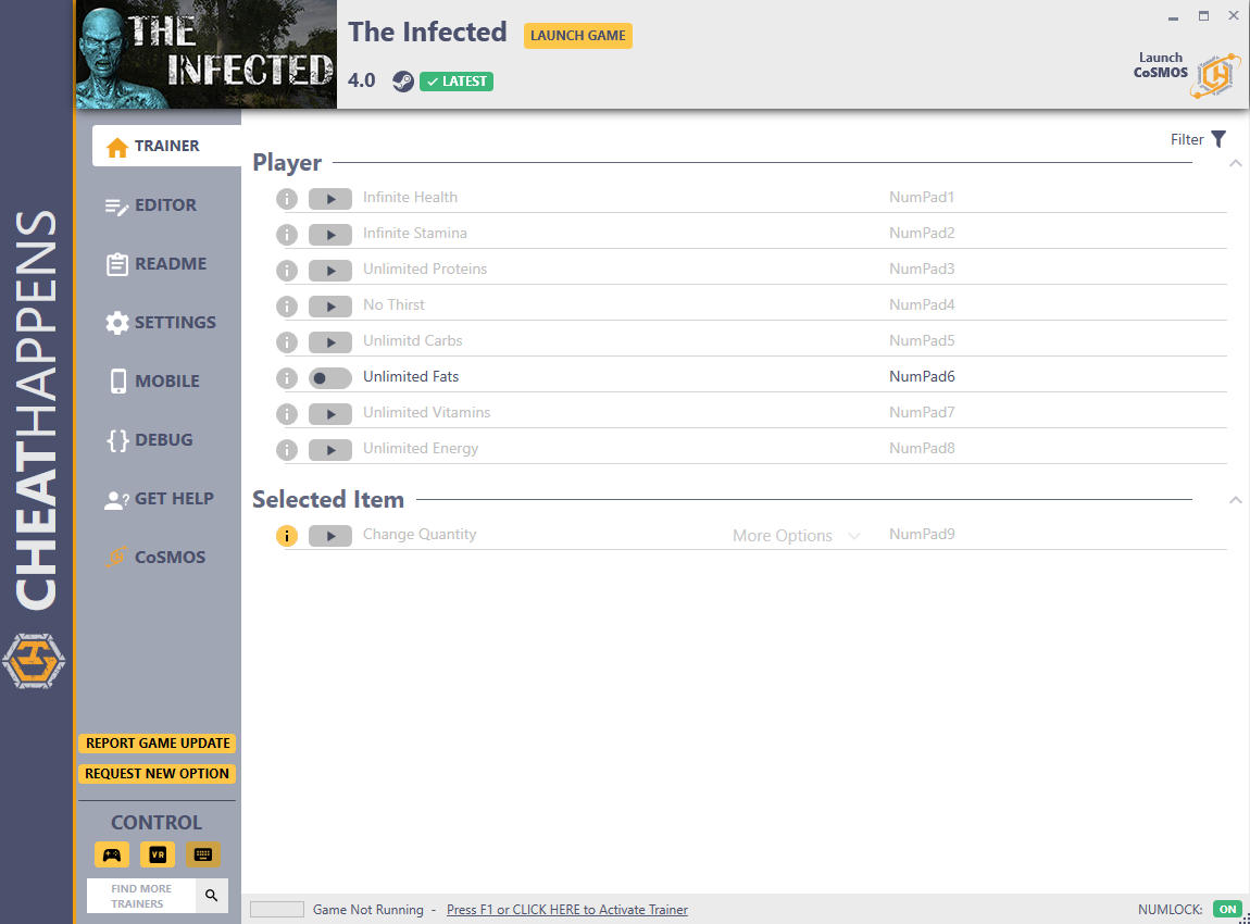 The Infected: Трейнер +10 v4.0 {CheatHappens}